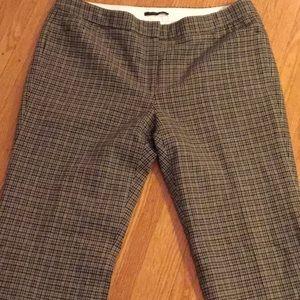 Elie Tahari size 14 plaid wool wide leg pants
